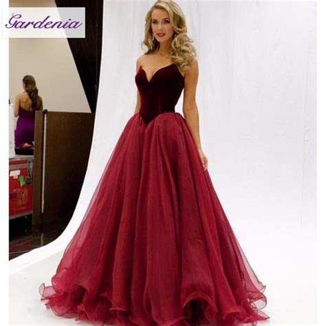 Dress Cinderella Maroon T17 burgundy tulle skirt fitted prom dresses