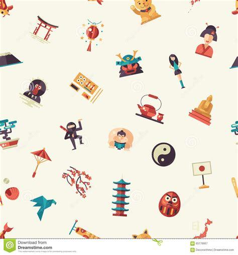 flat icon design japan flat design japan travel pattern with landmarks famous
