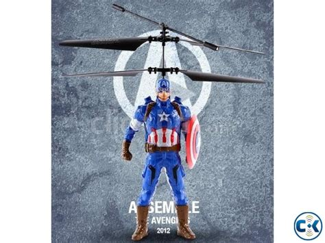 Remote Radio Mobil Captain America flying captain america electric rc sensor helicopter clickbd