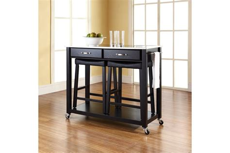stainless steel top kitchen cart island in black finish stainless steel top kitchen cart island in blk w 24