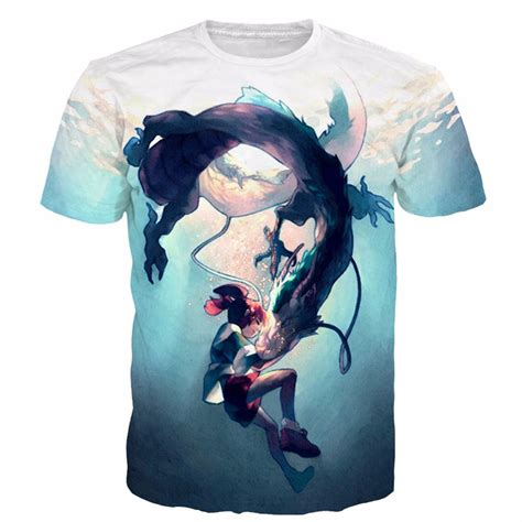 T Shirt Anime 1 aliexpress buy newest style classic anime spirited away tshirts character ogino