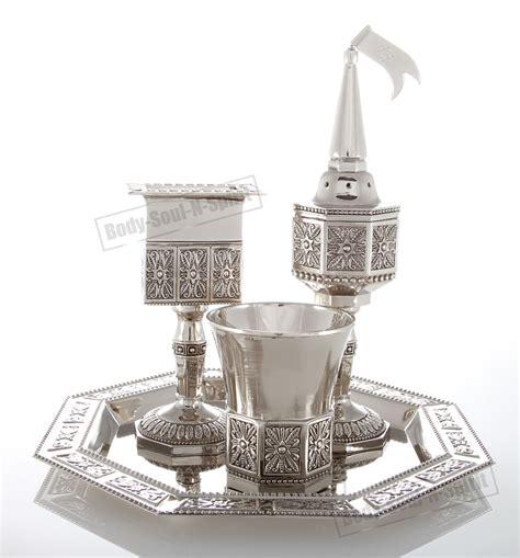 Sendok Set Eleggant By Shabat Shop havdalah set kiddush cup candle spices fragrance jewelry