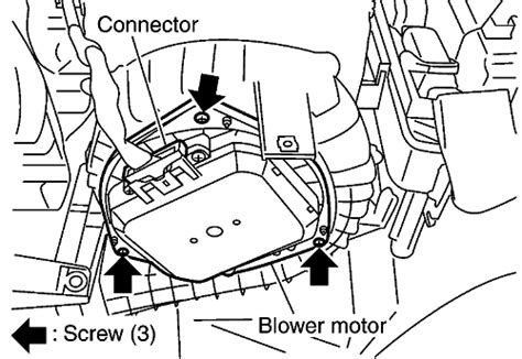 2008 nissan quest blower motor resistor location repair guides blower motor removal installation autozone