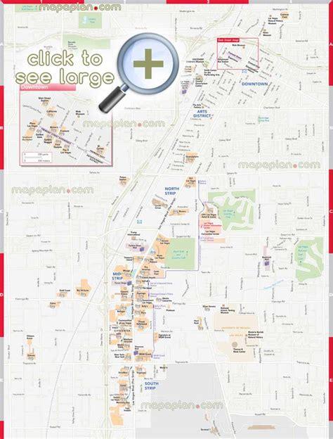 fremont las vegas map las vegas maps top tourist attractions free printable