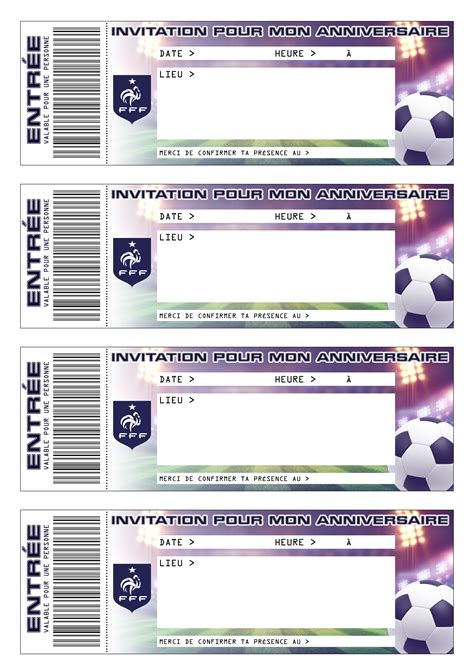 Cartes D Invitation Anniversaire Foot 224 Imprimer Gratuitement
