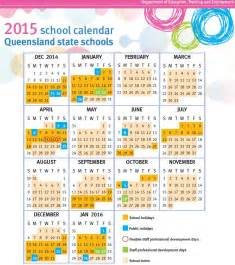 2018 Calendar Qld Queensland Term Dates 2017
