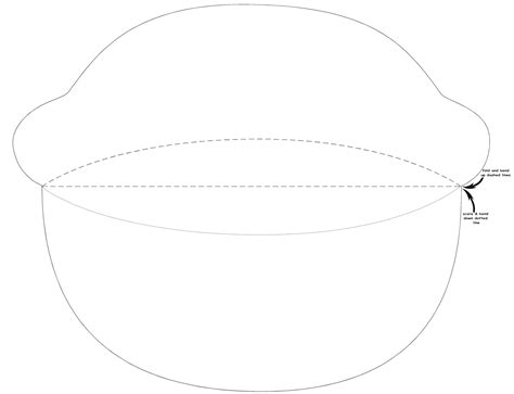 printable visor template free craft projects visor hat
