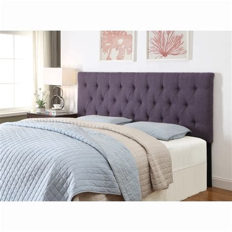 purple king california king size tufted upholstered