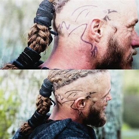 what are ragnar lothbroks head tattoos travis fimmel from vikings original crow raven head tattoo