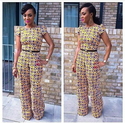 styles of ankara jump suits jumpsuit africanprint pagne pinterest african