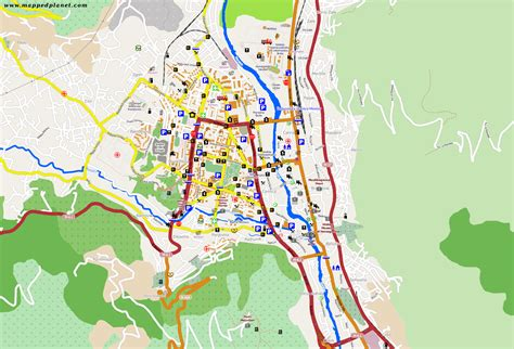 map of city of city maps mostar