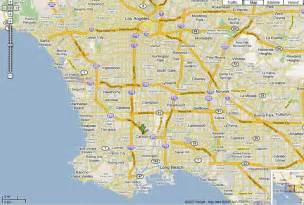 Los Angeles On Map by Map Of Los Angeles And Surrounding Areas Maps