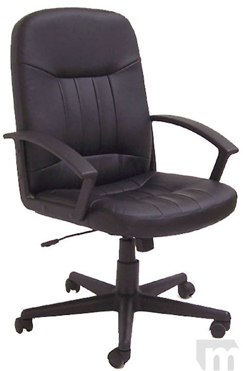 chair swivel black leather swivel office chair