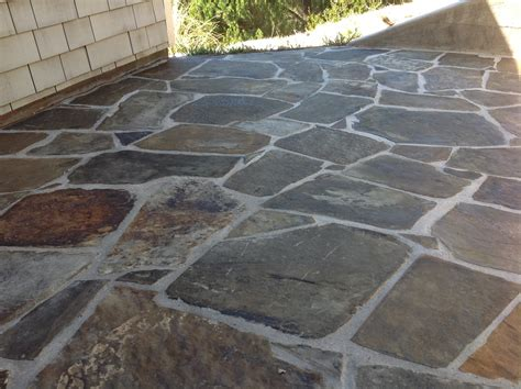backyard tile refinishing slate tile floors and deep cleaning