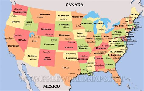 map usa showiwng states united states map showing states and capitals maps of usa