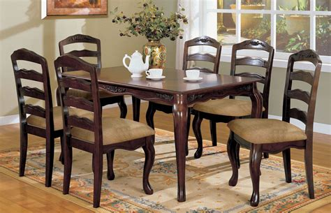 Bedroom Furniture Townsville Townsville Walnut 60 Quot Rectangular Leg Dining Room Set Dining Sets Dining Kitchen