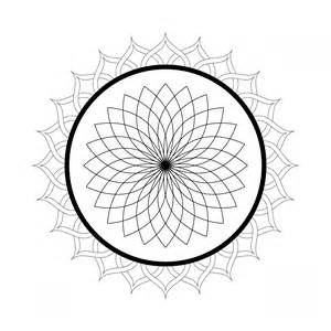 Flower Mandala Coloring Pages sketch template