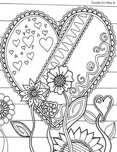 doodle alley flowers valentines day coloring pages doodle alley