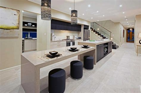 beautiful kitchen island with table attached trends