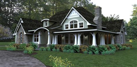bungalow cottage country tuscan house plan