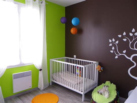 chambre enfant vert chambre b 233 b 233 th 232 me nature photo 1 9 3504169