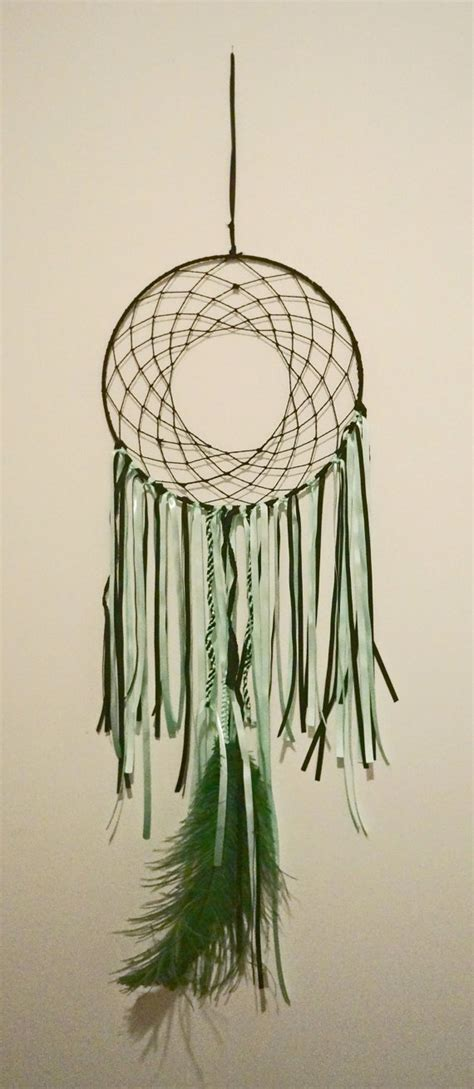 Handmade Dreamcatchers For Sale - black and teal catcher click for more photos