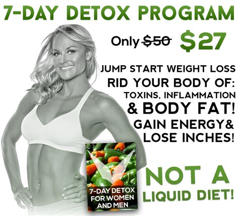Detox Diet Jumpstart Weight Loss by 7 Day Detox Workout Anywhere