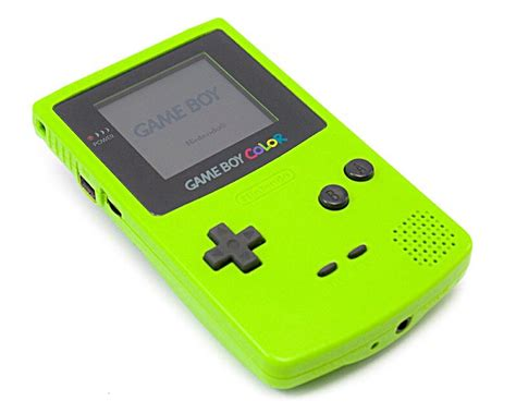 boy color nintendo gameboy color gbc colour lime green 30 day