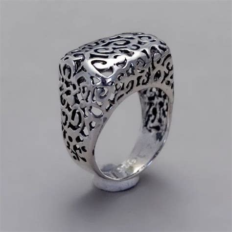sterling silver ring handmade sterling silver filigree