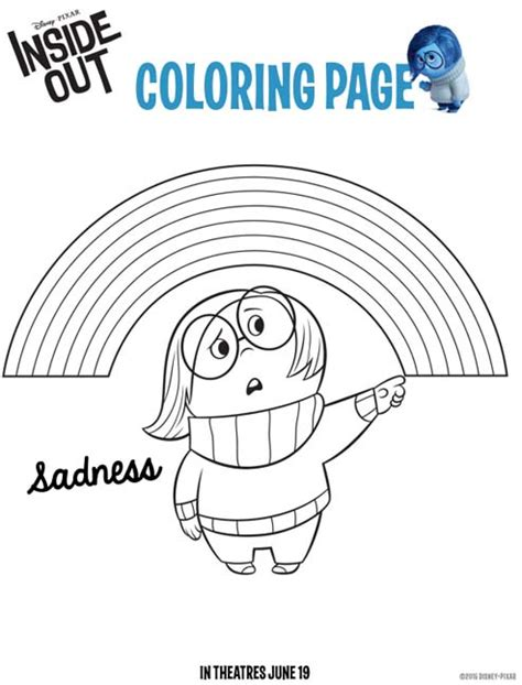 insideout sadness coloring coloring kids disney pixar inside out coloring pages and activity sheets