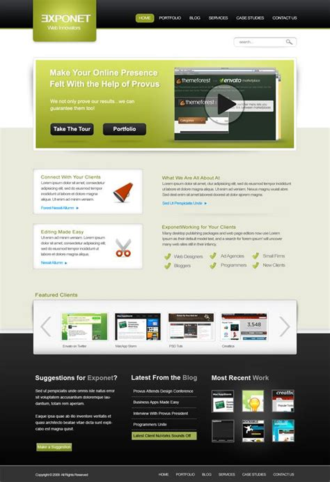 web templates free download psd http webdesign14 com