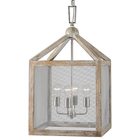 bed bath and beyond nashua uttermost nashua 4 light wooden lantern pendant with