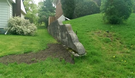 slippery rock lawn and garden landscaping a slope