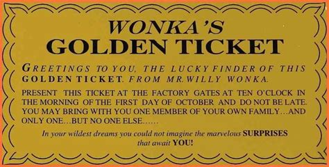 Golden Ticket Printable Template by Bar Printable Willy Wonka Golden Ticket Template
