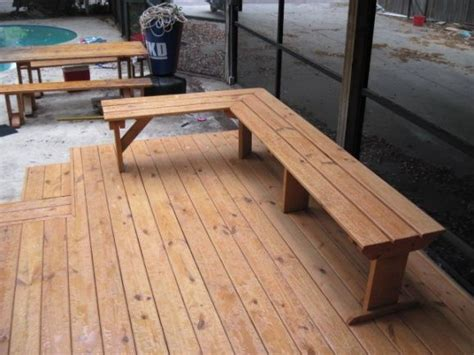 deck benches built in built in deck bench garden inspirations pinterest