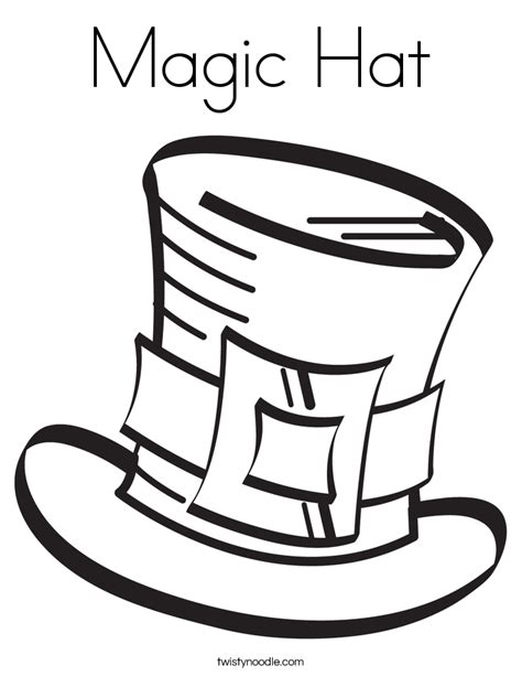 coloring pages magician hat magic hat coloring page twisty noodle