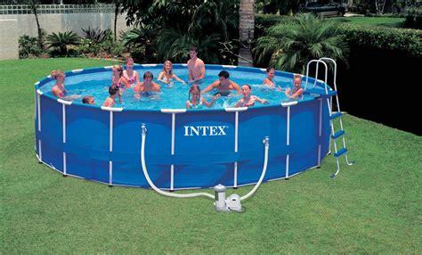 Kolam Ground Steel Pro Frame Pool Bestway 56245 White Kualitas Terbaik china above ground pvc swimming pool with metal frame