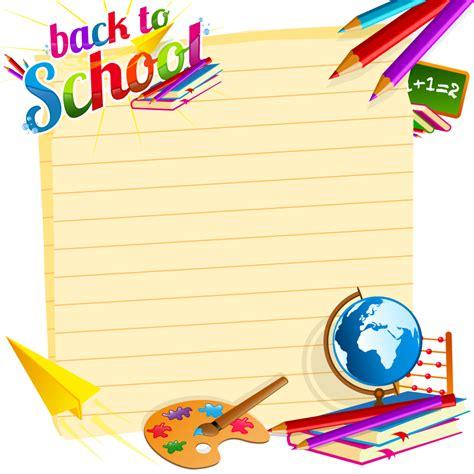 school supplies template vector free school backgrounds set 19 over millions vectors stock