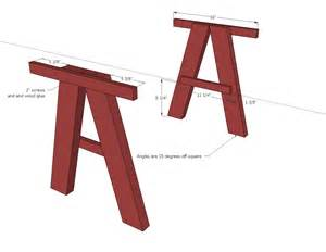 Ana white double trestle play table diy projects