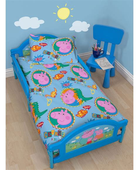 peppa pig toddler bedding price right home peppa pig george junior toddler bed