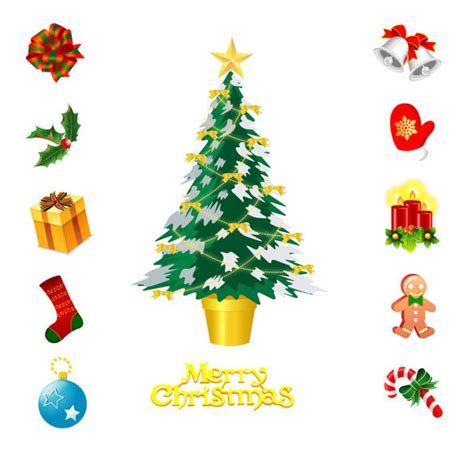 images of christmas objects christmas stock objects ai format