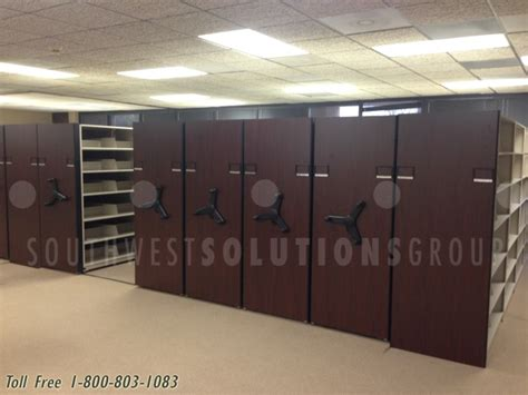 mobile shelving system kansas city high density space