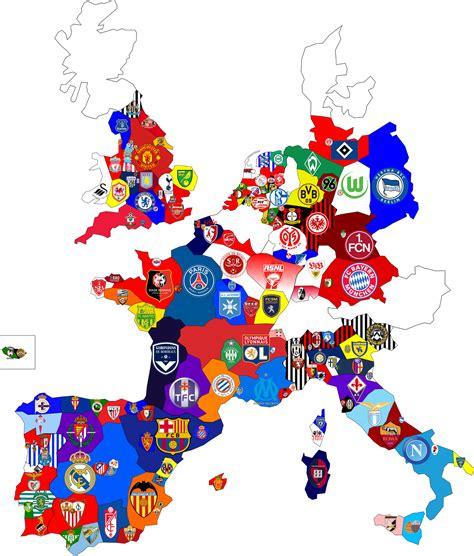 map uk football clubs my ideas european club football map