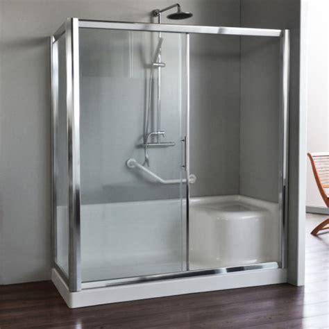 box doccia completi di piatto box auxilia completo di piatto doccia con seduta 150x70