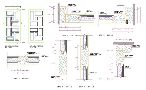 How To Open Dwg File wood door detail