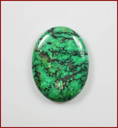 green turquoise gemstone oval 40x30mm cabochon