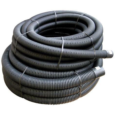 Drainage Pipe B Q Floplast 80mm X 25mtr Coil Land Drainage Pipe Black