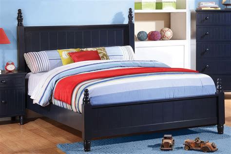 coaster bed coaster zachary bedroom set navy blue 400691 bed set at homelement com