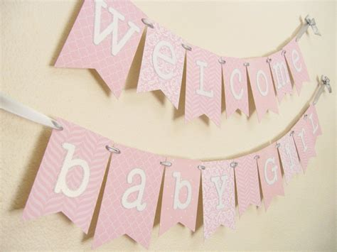 Baby Shower Banner by Pink And Silver Baby Shower Banner Gray Baby Showers