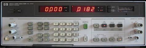 audio file format analyzer hp 8903 software
